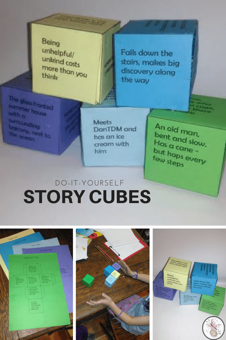 DIY Story Cubes {And Free Story Elements Download}
