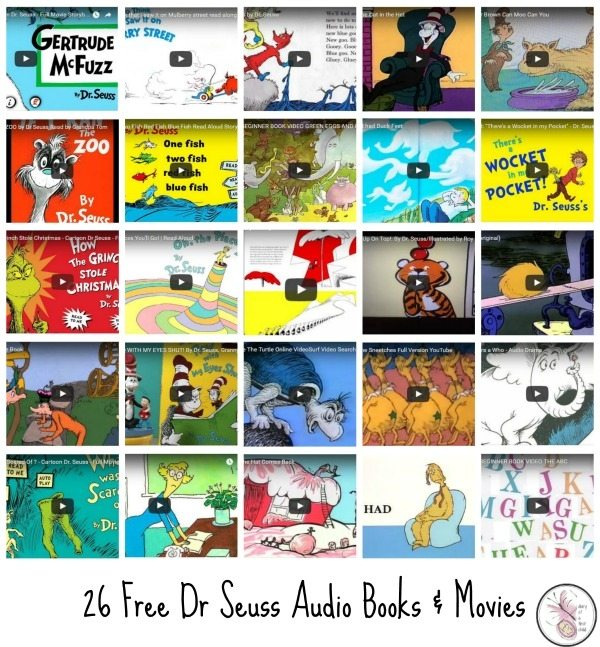 26 Free Dr Seuss Book Readings And Movies