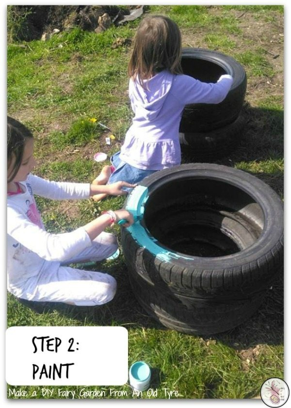 Fairy Garden in a tyre
