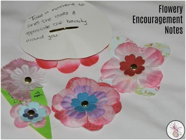 Flowery Encouragement Notes {BostikBloggers}