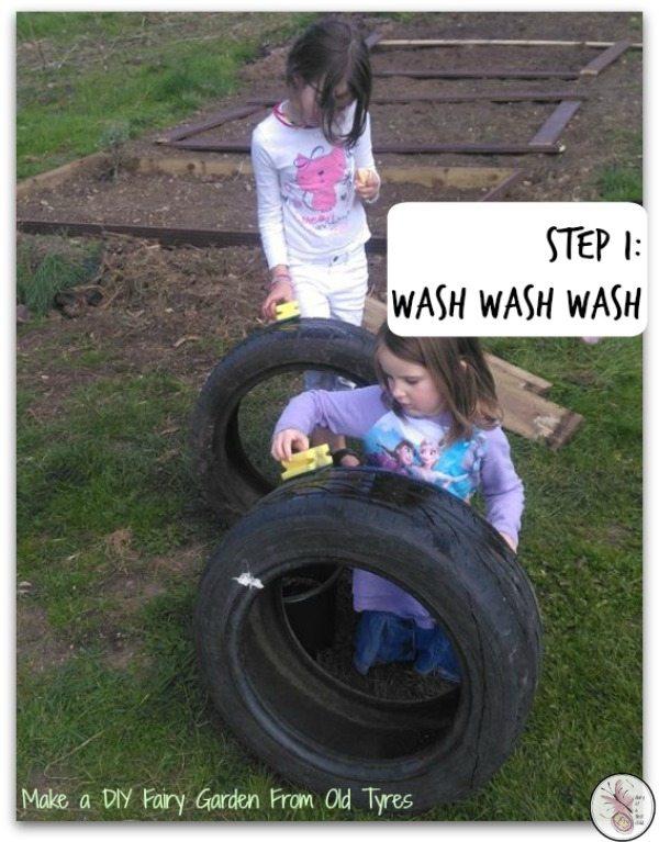Fairy Garden in a tyre