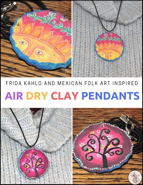 air dry clay pendant