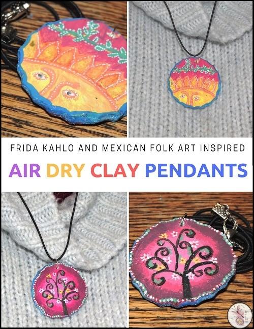 air dry clay pendant