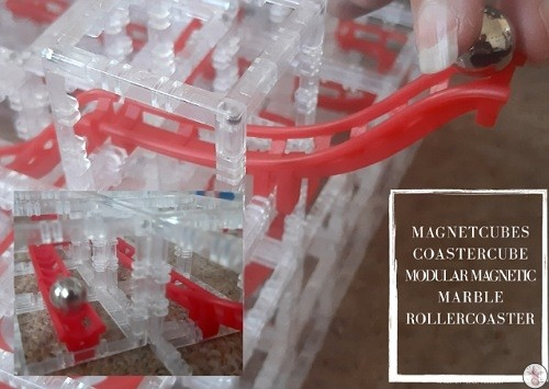 CoasterCube Modular Magnetic Marble Rollercoaster